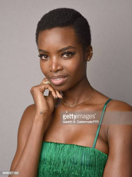 Maria Borges backstage ahead of Fashion for Relief Cannes 2018 during the 71st annual Cannes Film Festival at Aeroport Cannes Mandelieu on May 13...