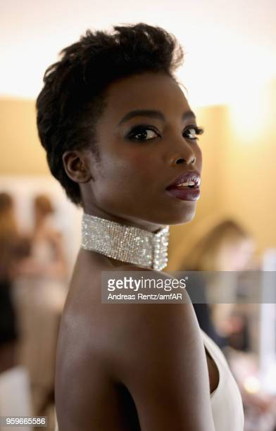 Maria Borges backstage at the amfAR Gala Cannes 2018 at Hotel du CapEdenRoc on May 17 2018 in Cap d'Antibes France