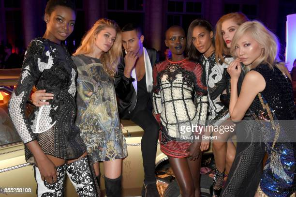 Maria Borges Doutzen Kroes Olivier Rousteing Grace Bol Cindy Bruna Alexina Graham and Soo Joo Park attends the launch of the new L'Oreal Paris X...
