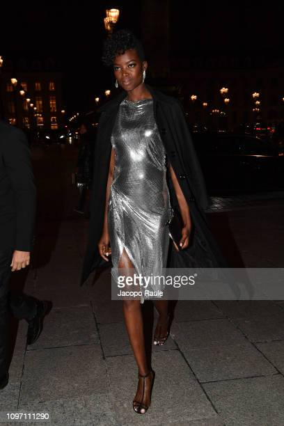 Maria Borges is seen arriving at Boucheron dinner on January 20 2019 in Paris France