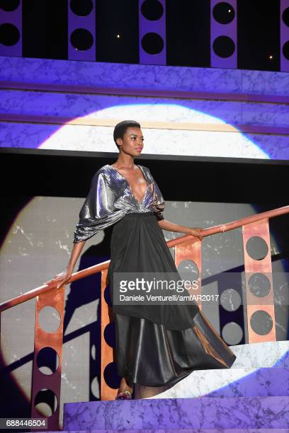 Maria Borges on stage at the amfAR Gala Cannes 2017 at Hotel du CapEdenRoc on May 25 2017 in Cap d'Antibes France
