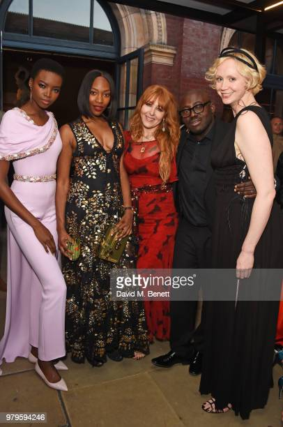 Maria Borges Vanessa Kingori Charlotte Tilbury Edward Enninful and Gwendoline Christie attend the Summer Party at the VA in partnership with Harrods...