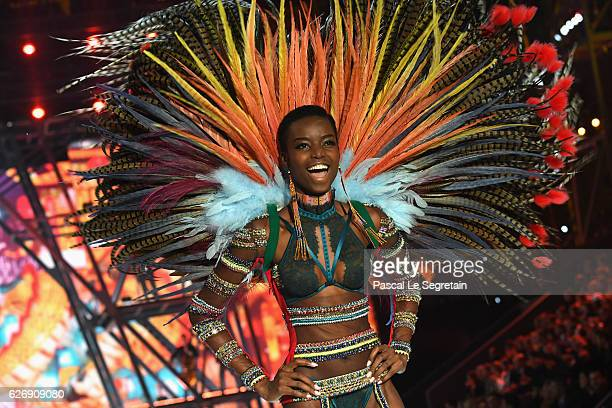 Maria Borges walks the runway at the Victoria's Secret Fashion Show on November 30 2016 in Paris France