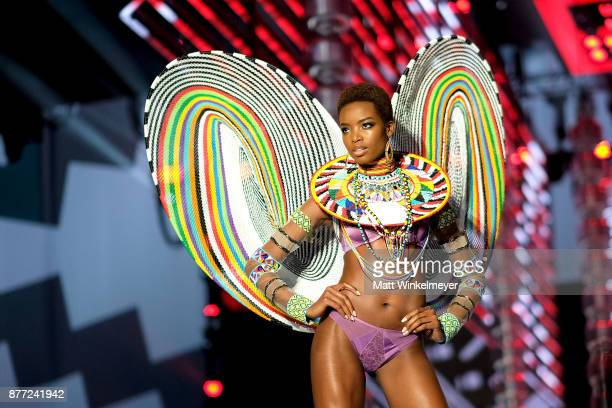 Maria Borges walks the runway during the 2017 Victoria's Secret Fashion Show In Shanghai at MercedesBenz Arena on November 20 2017 in Shanghai China