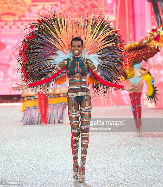 Maria Borges walks the runway during the annual Victoria's Secret fashion show at Grand Palais on November 30 2016 in Paris France