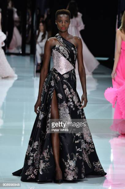 Maria Borges walks the runway during the Ralph Russo Spring Summer 2018 show as part of Paris Fashion Week on January 22 2018 in Paris France