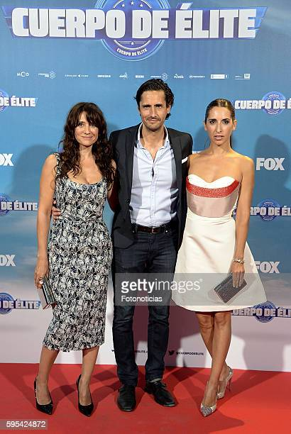 Maria Botto Juan Diego Botto and Nur Levi Botto attend the 'Cuerpo de Elite' premiere at Capitol cinema on August 25 2016 in Madrid Spain
