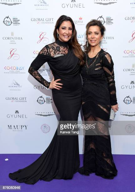 Maria Bravo and Karen Ruimy attend The Global Gift gala held at the Corinthia Hotel on November 18 2017 in London England