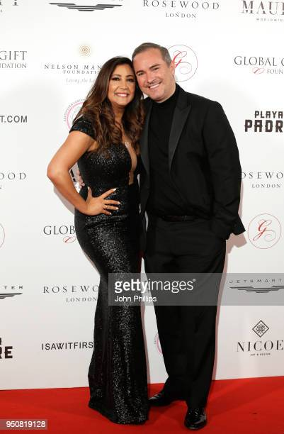 Maria Bravo and Nick Ede attend The Nelson Mandela Global Gift Gala at Rosewood London on April 24 2018 in London England