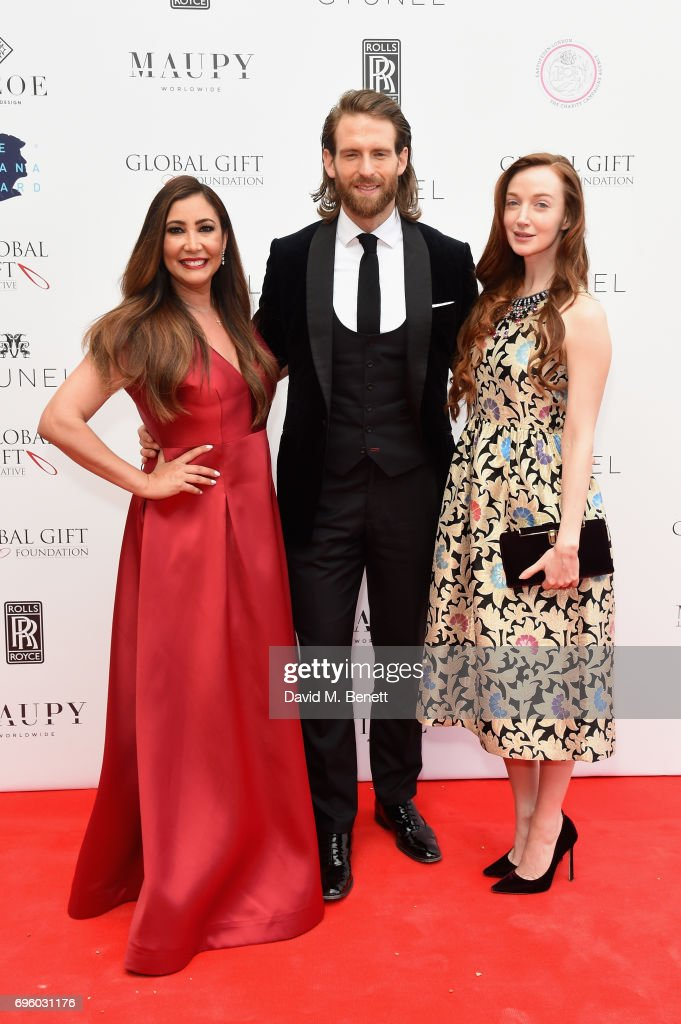 Maria Bravo, Craig McGinlay and Olivia Grant attend the Global Gift Gala for The Diana Award, hosted by Earl Spencer at Althorp House on June 14, 2017 in Northampton, England.
