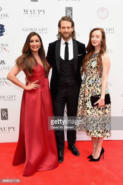 Maria Bravo Craig McGinlay and Olivia Grant attend the Global Gift Gala for The Diana Award hosted by Earl Spencer at Althorp House on June 14 2017...