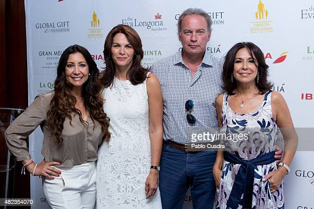 Maria Bravo Fabiola Martinez Bertin Osborne and Isabel Gemio attend a press conference as the Global Gift Foundation delivers donations at 'De Maria'...