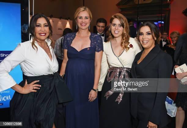 Maria Bravo Holly Branson Princess Beatrice of York and Eva Longoria attend The 9th Annual Global Gift Gala held at The Rosewood Hotel on November 2...