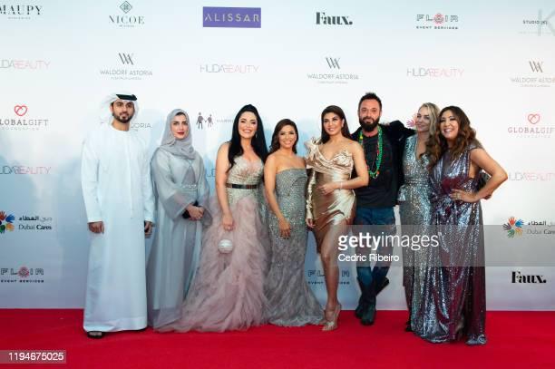 Maria Bravo Lucy Bruce Sacha Jafri Jacqueline Fernandez Eva Longoria Baston Mona Kattan guests attend the The Global Gift Gala Dubai presented by...