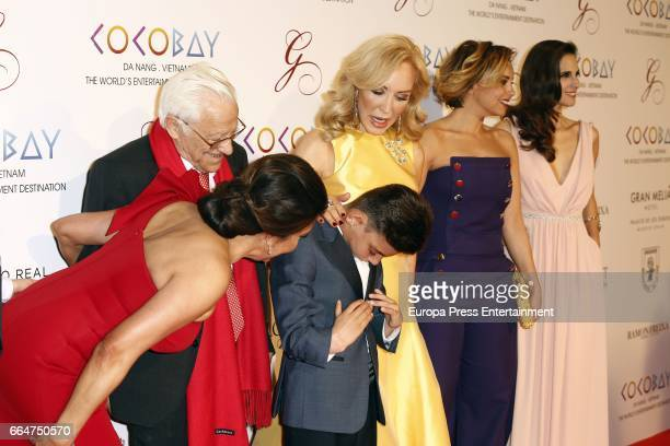 Maria Bravo Padre Angel Adrian Martin Carmen Lomana Chenoa and Nuria Fergo attend the Global Gift Gala 2017 at Royal Theatre on April 4 2017 in...