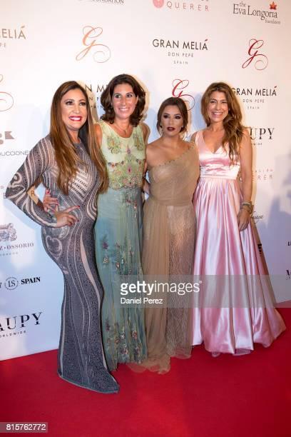 Maria Bravo Pilar Garcia de la Granja and Eva Longoria attend the Global Gift Gala 2017 red carpet at Gran Melia Don pepe Resort on July 16 2017 in...