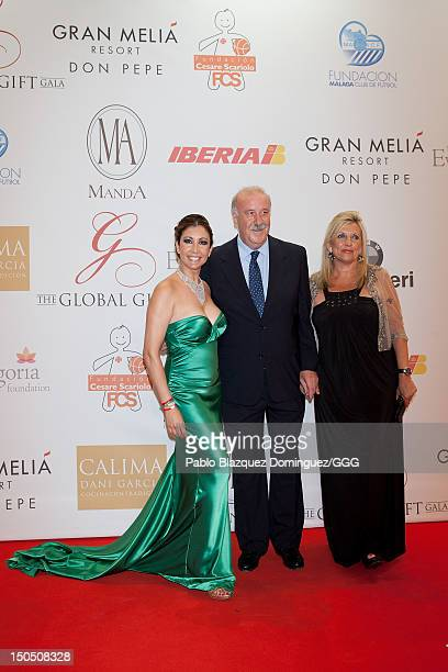 Maria Bravo Vicente del Bosque and Trinidad Lopez attend the Global Gift Gala held to raise benefits for Cesare Scariolo Foundation and Eva Longoria...