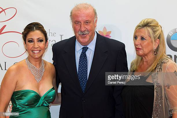 Maria Bravo Vicente del Bosque and Trinidad Lopez attends the Global Gift Gala 2012 at Gran Melia Resort Don Pepe on August 19 2012 in Marbella Spain...