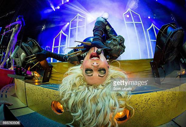 Maria Brink of In This Moment performs at DTE Energy Music Theater on August 21 2016 in Clarkston Michigan