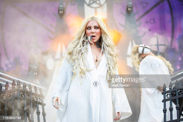 Maria Brink of In This Moment performs at Heavy Montreal at Parc Jean-Drapeau on July 28, 2019 in Montreal, Canada.