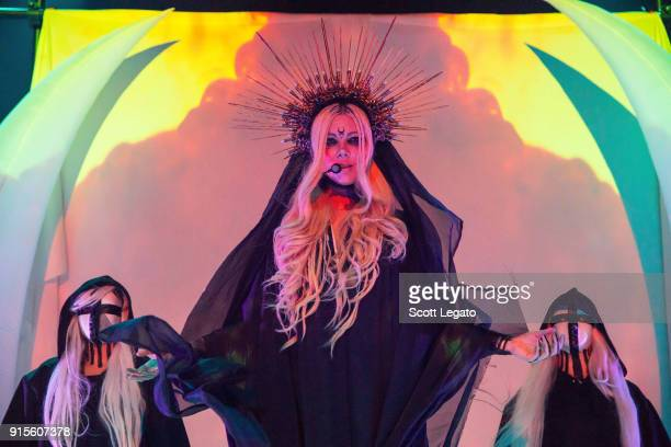Maria Brink of In This Moment performs in support of The Witching Hour Tour at The Fillmore on February 7, 2018 in Detroit, Michigan.