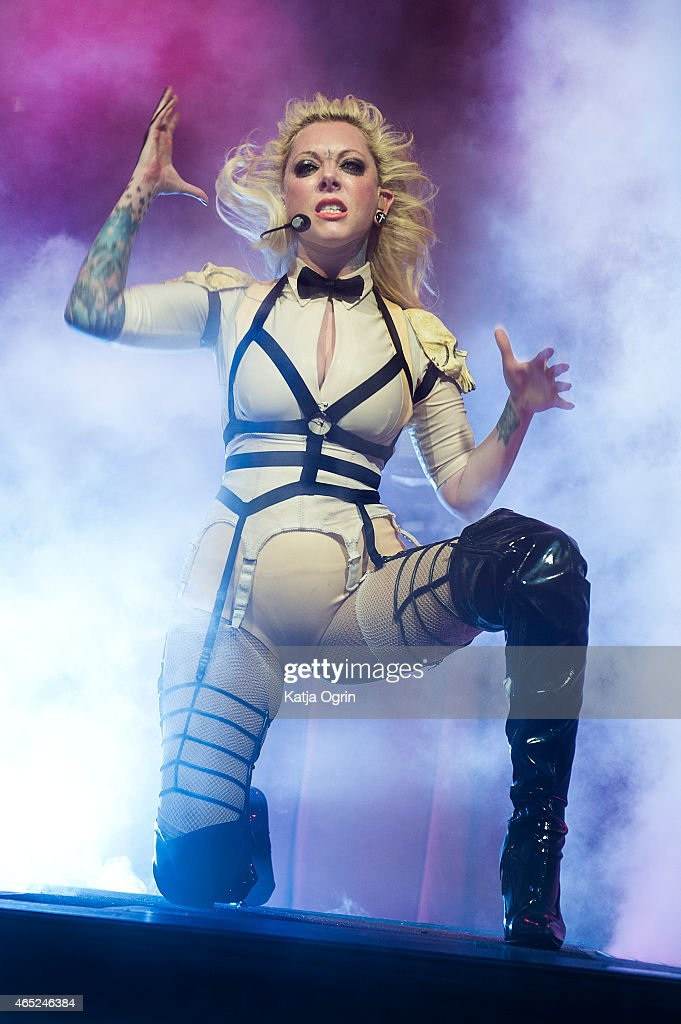 In This Moment Perform At Wulfrun Hall In Wolverhampton : News Photo