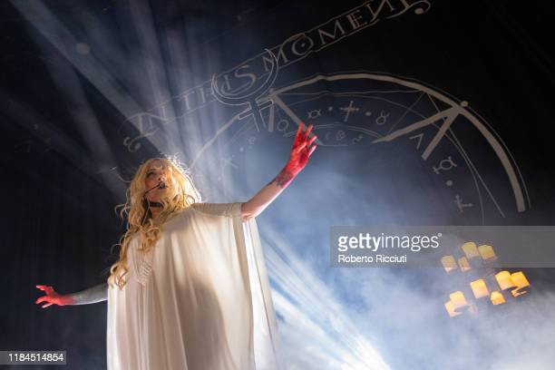 Maria Brink of In This Moment performs on stage at The SSE Hydro on November 24, 2019 in Glasgow, Scotland.