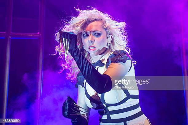 Maria Brink of In This Moment performs on stage during a sold out show at KOKO on March 5 2015 in London United Kingdom
