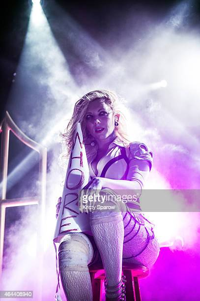 Maria Brink of In This Moment performs onstage at Le Trabendo on February 25 2015 in Paris France