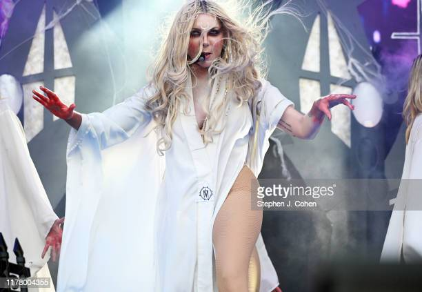 Maria Brink of the band In This Moment performs during the 2019 Louder Than Life Music Festival at Highland Festival Grounds at Kentucky Expo Center...