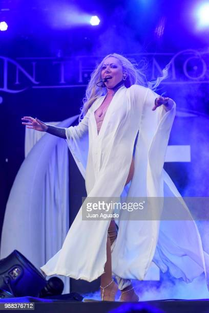 Maria Brink of the band In This Moment performs on stage during Day 3 of the Download Festival on June 30, 2018 in Madrid.