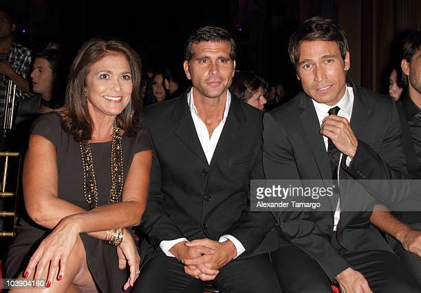 Maria Browne Christian Meier and Rafael Amaya attend screening of Telemundo's 'Alguien Te Mira' at The Biltmore Hotel on September 7 2010 in Coral...