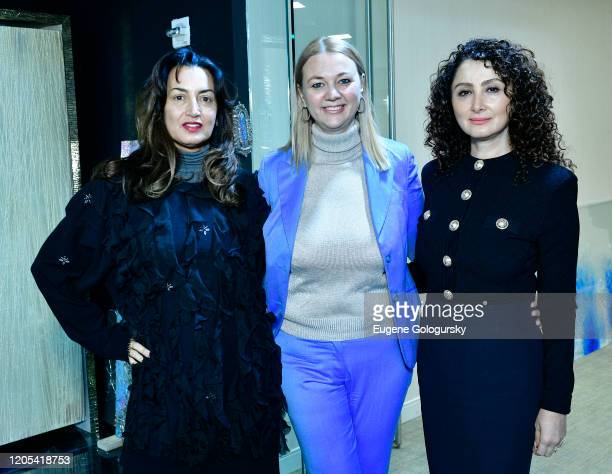 Maria Buccellati Alisa Roever and Angela Arabov attend the Andrea Bocelli Foundation Lillian Gorbachincky Present First Annual Luncheon at AD...