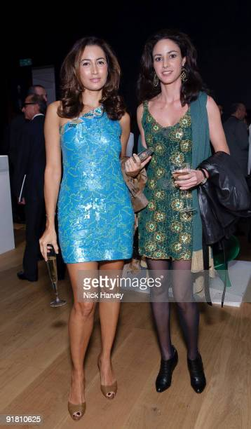 Maria Buccellati and Paola Livanos attend reception hosted by Graff held in aid of FACET at Christie's King Street on October 12 2009 in London...