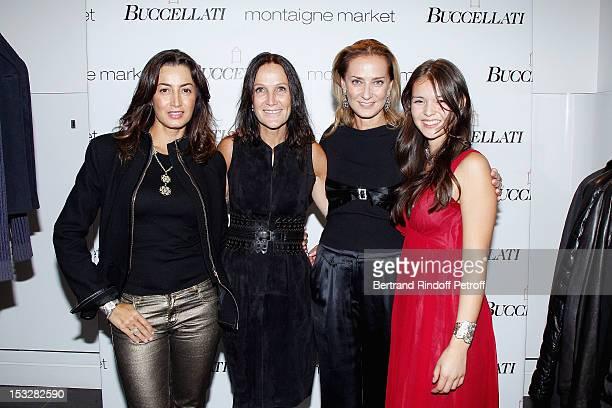 Maria Buccellati, Lialiane Jossua, Boutique Owner, Maria-Cristina Buccellati and Saya Buccellati attend the Buccellati Blossom Butterfly and Daisy...
