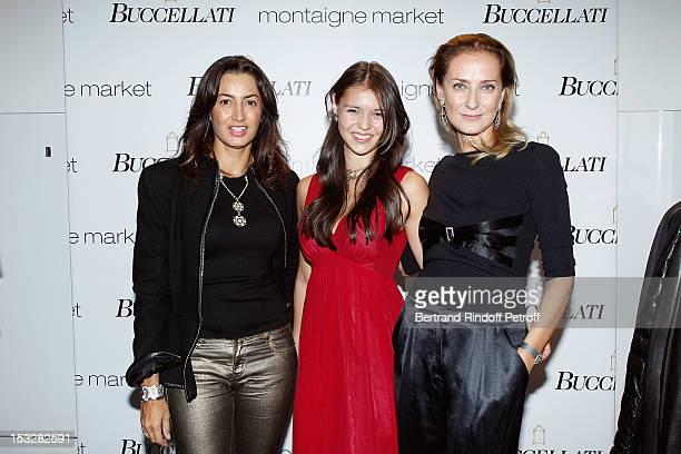Maria Buccellati, Maria-Cristina Buccellati and Saya Buccellati attend the Buccellati Blossom Butterfly and Daisy new collection presentation with...