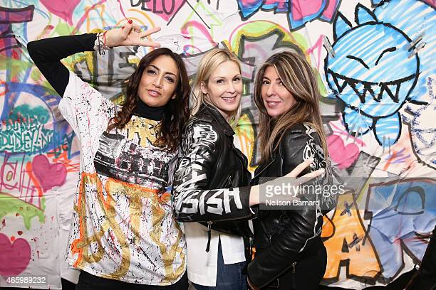 Maria Buccellati President of Faith Connexion actress Kelly Rutherford and Nina Garcia Creative Director Marie Claire attend the Faith Connexion...
