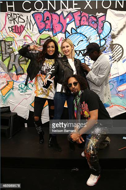 Maria Buccellati President of Faith Connexion actress Kelly Rutherford Le H and Reyz attend the Faith Connexion Street Art Tour hosted by Saks Fifth...