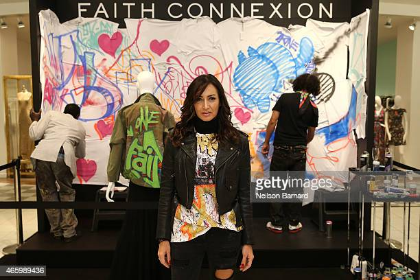 Maria Buccellati President of Faith Connexion attends the Faith Connexion Street Art Tour hosted by Saks Fifth Avenue and Marie Claire at Saks Fifth...