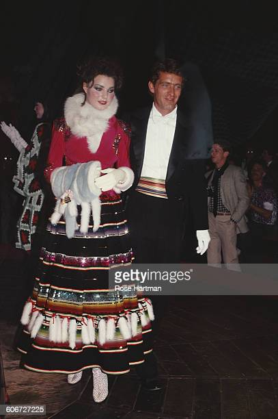 Maria Burton adopted daughter of Elizabeth Taylor and Richard Burton with actor Ingo Thouret USA circa 1985