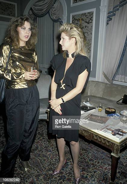 Maria Burton and Kathy Hilton during Party In Honor of Contessa Francesca Braschi at Waldorf Towers in New York City New York United States