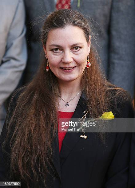 Maria Burton attends the ceremony honoring Richard Burton with a posthumous Star on The Hollywood Walk of Fame on March 1, 2013 in Hollywood,...