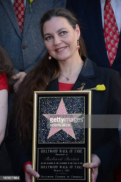 Maria Burton, daughter of the late actor Richard Burton, attends the ceremony to honor her father with a star on the Hollywood Walk of Fame on March...