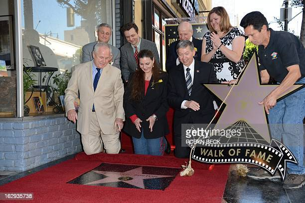 Maria Burton , daughter of the late actor Richard Burton, watches as her father's star is unveiled at a ceremony on the Hollywood Walk of Fame on...