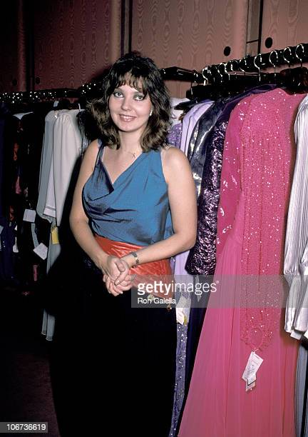 Maria Burton during Maria Burton and Steve Carson backstage of Fashion Showing of Contessa Francesca Braschi's Designs New York City November 14 1985...