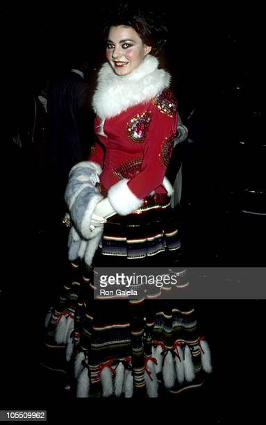 Maria Burton during Michaele Volbracht Fashion Show May 3 1981 at Circle In The Square Theater in New York City New York United States