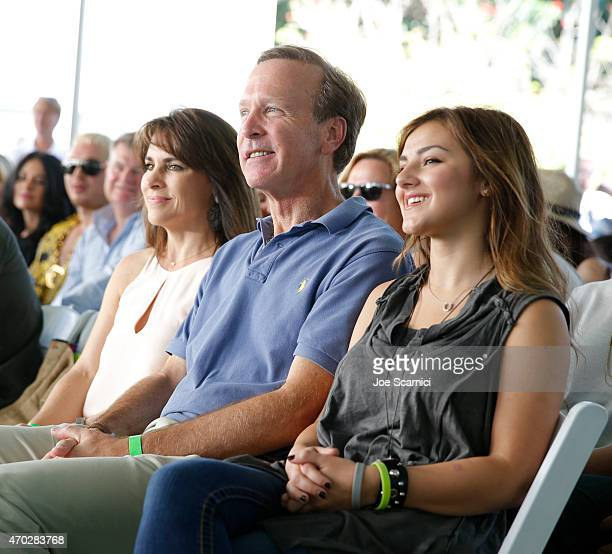 Maria Bush and Chairman of the Board of Points of Light Neil Bush and singer Alexis Wilkins attend the Points of Light generationOn Block Party on...