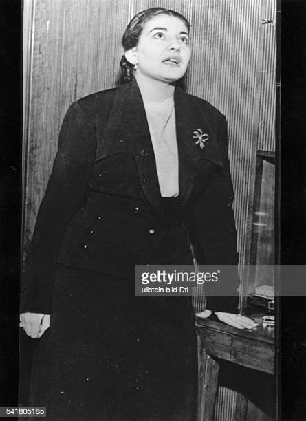 Maria Callas *Sängerin Sopran USA / Griechenlandam Beginn ihrer Laufbahn etwa 1950