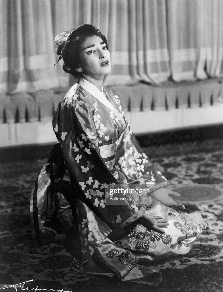 "Maria Callas In ""Madama Butterfly"" : News Photo"