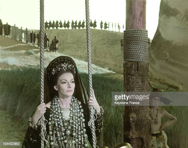 Maria CALLAS as MEDEA during the shooting of the film directed by Paolo PASOLINI